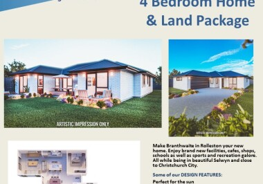 Generation Homes Christchurch House and Land Packages - Lot 26 Branthwaite, Rolleston (brick)