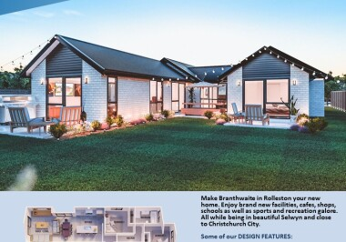Generation Homes Christchurch House and Land Packages - Lot 28 Branthwaite, Rolleston (brick)