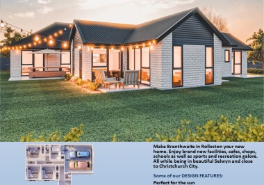 Generation Homes Christchurch House and Land Packages - Lot 29 Branthwaite, Rolleston (brick)