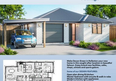 Generation Homes Christchurch House and Land Packages - Lot 21 Devon Green, Rolleston