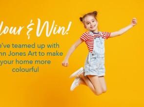 Generation Homes Plan Colour & WIN with Glenn Jones Art