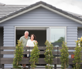 Generation Homes Auckland North client reference - Auckland couple celebrate their new home and outdoor living choices