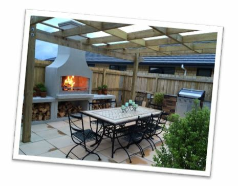 Flare Fires Outdoor Fireplaces