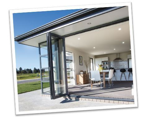 Large bifold doors are a classic variation in new home builds