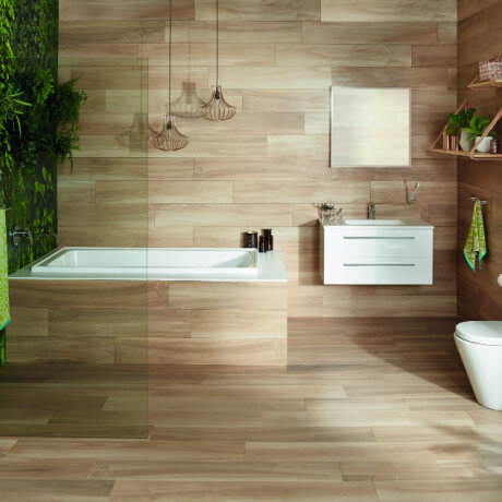 Bathrooms trends showcase modern, contemporary spaces