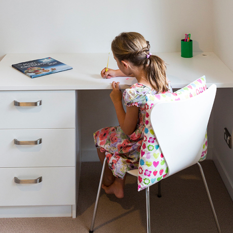 Minimise chaos and clutter with a room for the modern kid