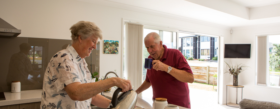 Outdoor lifestyle and location of Riverhead development attracts retired couple