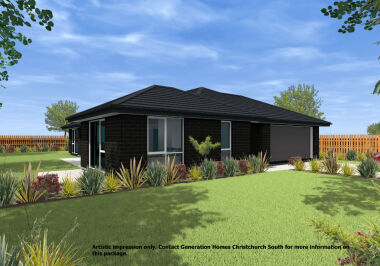 Generation Homes Christchurch House and Land Packages - Lot 156 - Branthwaite 3 bed two living