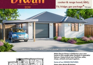 Generation Homes Christchurch House and Land Packages - DIWALI FREE UPGRADES lot 21 Devon Green, Rolleston