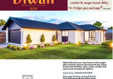 Generation Homes Christchurch House and Land Packages - DIWALI FREE UPGRADES lot 18 Copper Ridge, Halswell 3 bedrooms