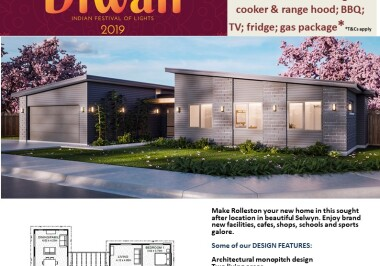 Generation Homes Christchurch House and Land Packages - DIWALI FREE UPGRADES Lot 7 EMR, Rolleston