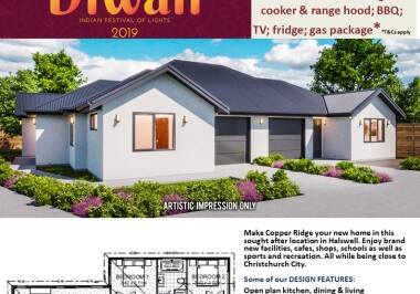 Generation Homes Christchurch House and Land Packages - DIWALI FREE UPGRADES Lot 66b Copper Ridge, Halswell
