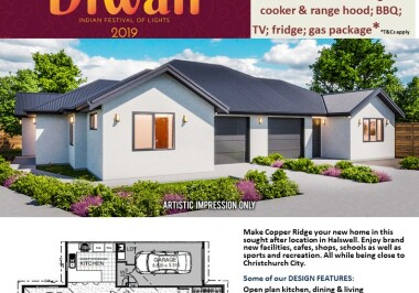 Generation Homes Christchurch House and Land Packages - DIWALI FREE UPGRADES lot 66A Copper Ridge Halswell
