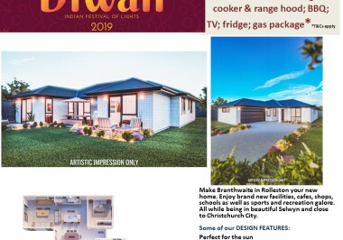 Generation Homes Christchurch House and Land Packages - DIWALI FREE UPGRADES lot 26 Branthwaite brick