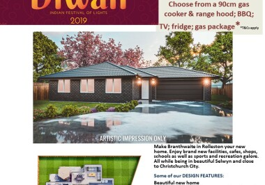 Generation Homes Christchurch House and Land Packages - DIWALI FREE UPGRADES lot 210 Branthwaite
