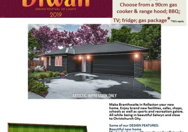 Generation Homes Christchurch House and Land Packages - DIWALI FREE UPGRADES lot 211 Branthwaite